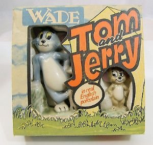 Wade Figurine Porcelain Set - Tom & Jerry - Boxed - 1974 - SOLD